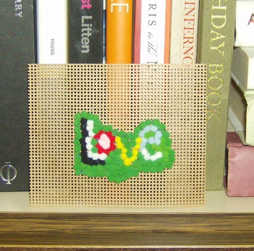 Pom-pom love sign by Holly Tierney-Bedord. All rights reserved.