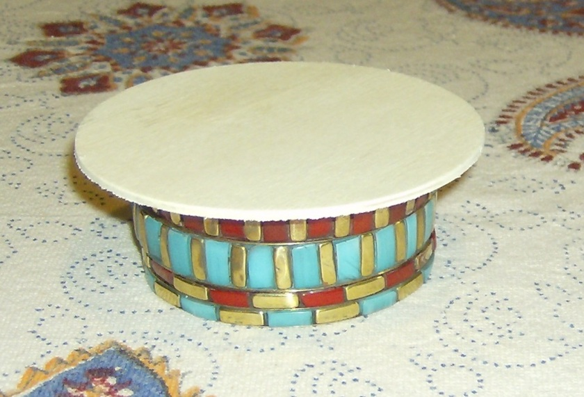 All you need to make a Jonathan Adler inspired mini coffee table. Photo by Holly Tierney-Bedord. All rights reserved.