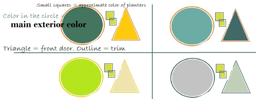 More color scheme ideas. Graphic designed by Holly Tierney-Bedord. All rights reserved.