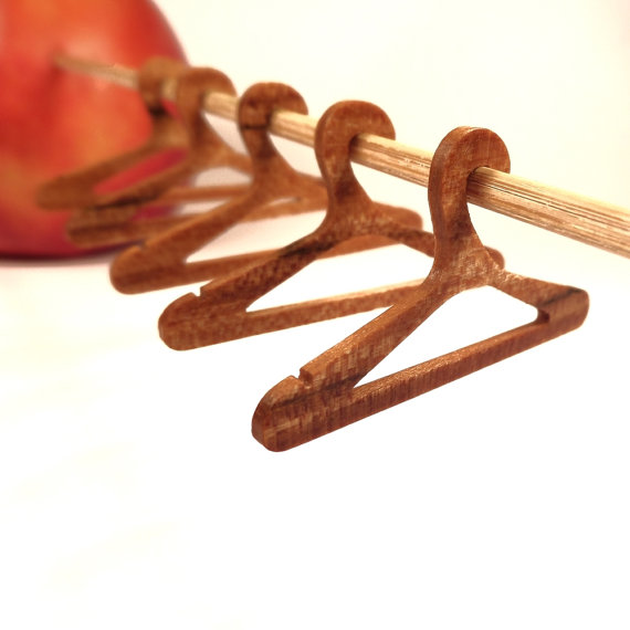 Mini wooden hangers by Sawdust Minis