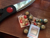 Make your own boxes of mini vintage ornaments! Photos by Holly Tierney-Bedord. All rights reserved.