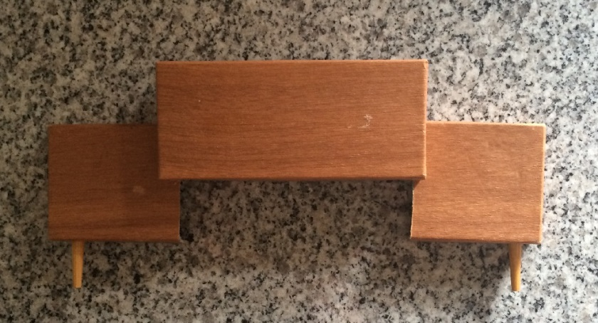 Mini headboard, now with legs. Photo by Holly Tierney-Bedord. All rights reserved.