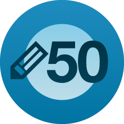 Wordpress 50 posts award