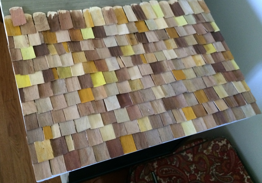 Mini house roof update. Photos by Holly Tierney-Bedord. All rights reserved.
