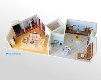 These photos of the property of Alan of Everyday Miniatures. They are not taken by me or depicting anything having to do with Flip This (Mini) House.