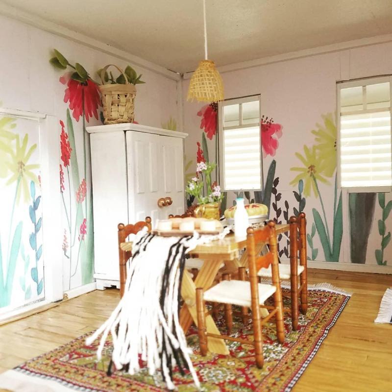 Dollhouse Kitchen Wallpaper: Flipthis(mini)house